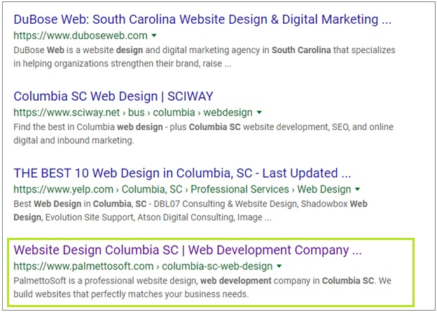 Columbia SC web design